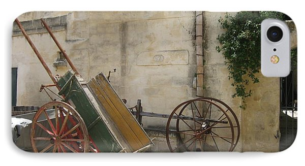 Matera Old Horsecart Italy IPhone Case