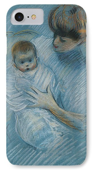 Maternity Phone Case by Paul Cesar Helleu