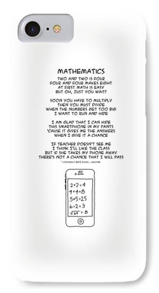 IPhone Case featuring the drawing Mathematics by John Haldane