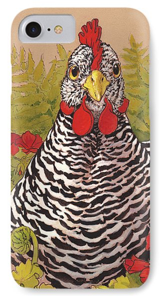 Matilda In The Geraniums IPhone 7 Case by Tracie Thompson