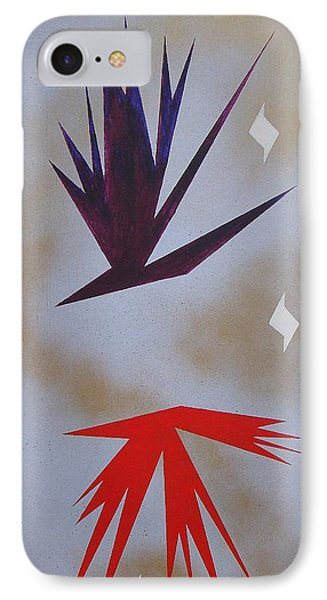 IPhone Case featuring the painting Mating Ritual by J R Seymour