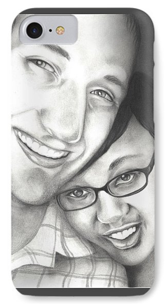IPhone Case featuring the drawing Matt And Jasmine by AC Williams