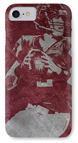 Matt Ryan Atlanta Falcons IPhone Case by Joe Hamilton