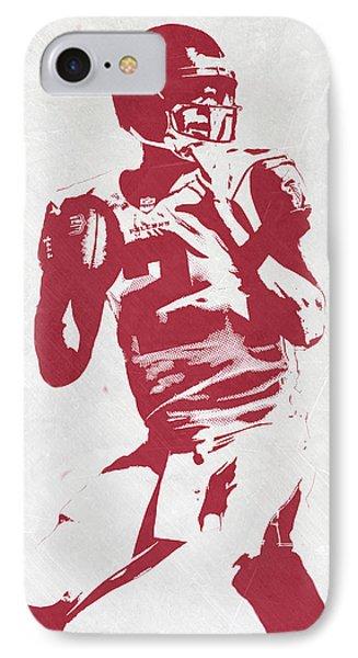 Matt Ryan Atlanta Falcons Pixel Art 2 IPhone Case by Joe Hamilton