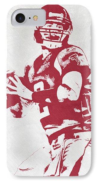 Matt Ryan Atlanta Falcons Pixel Art IPhone Case by Joe Hamilton