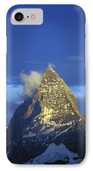 Matterhorn Mountain At Sunrise, Close Up IPhone Case