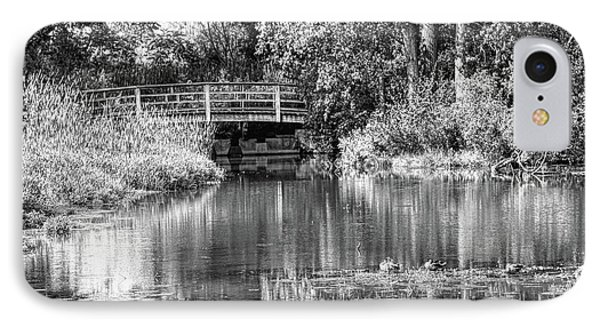 Matthaei Botanical Gardens Black And White IPhone Case by Pat Cook