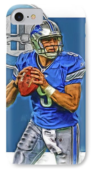 Matthew Stafford Detroit Lions Oil Art IPhone Case