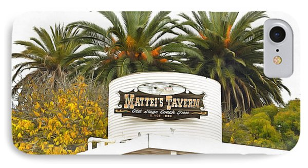 IPhone Case featuring the photograph Matties Tavern Los Olivos California by Floyd Snyder