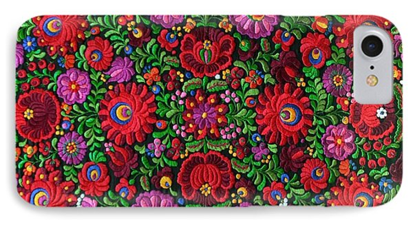 Matyo Hungarian Magyar Folk Embroidery Detail IPhone Case