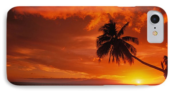 Maui, A Beautiful Sunset Phone Case by Ron Dahlquist - Printscapes