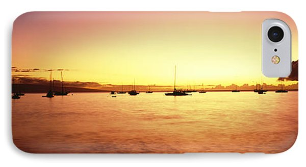 Maui Boat Harbor Silhouette Phone Case by Carl Shaneff - Printscapes