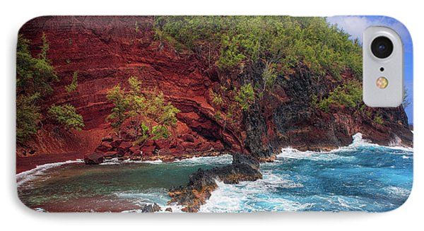 Maui Red Sand Beach Phone Case by Inge Johnsson