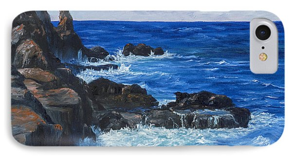IPhone Case featuring the painting Maui Rugged Coastline by Darice Machel McGuire