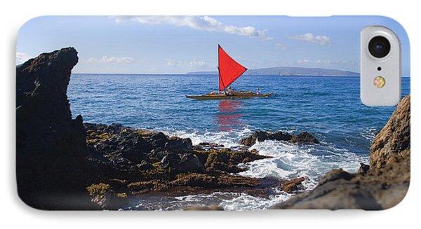 Maui Sailing Canoe Phone Case by Ron Dahlquist - Printscapes