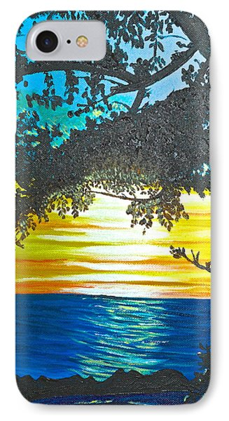 IPhone Case featuring the painting Maui Sunset by Donna Blossom