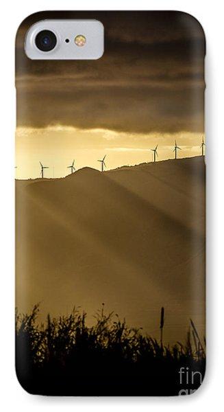 Maui Wind Farm Sunset IPhone Case by Dustin K Ryan