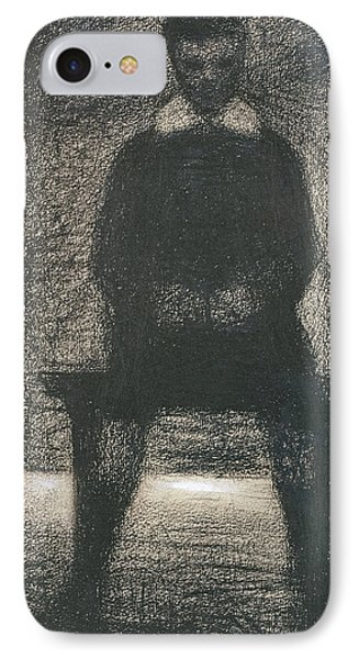 Maurice Appert Seated IPhone Case by Georges Pierre Seurat