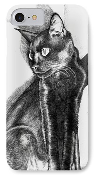 IPhone Case featuring the drawing Maurice  by Shawna Rowe