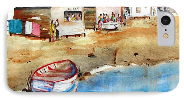 Mauricio's Village - Beach Huts IPhone Case by Carlin Blahnik