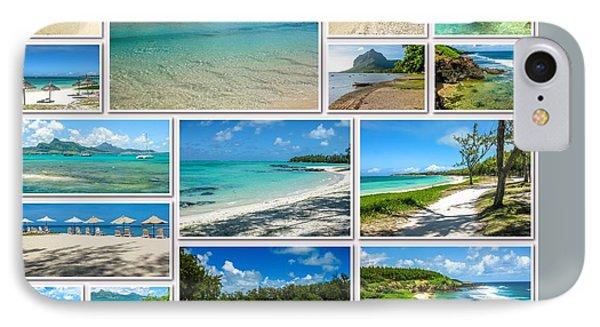 Mauritius Tropical Beaches Collage IPhone Case