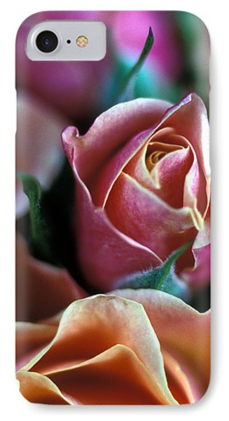 Mauve And Peach Roses Phone Case by Kathy Yates