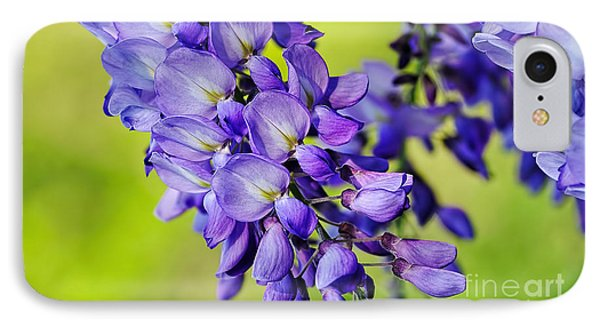 Mauve Wisteria Phone Case by Kaye Menner