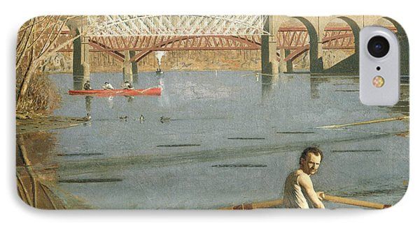 Max Schmitt In A Single Scull Phone Case by Thomas Eakins