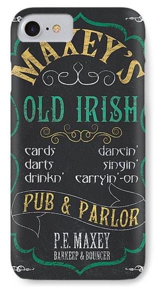 Maxey's Old Irish Pub IPhone 7 Case by Debbie DeWitt