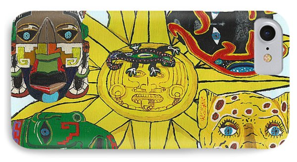 May  Aztec Masks IPhone Case