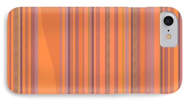 IPhone Case featuring the digital art May Morning Vertical Stripes by Val Arie