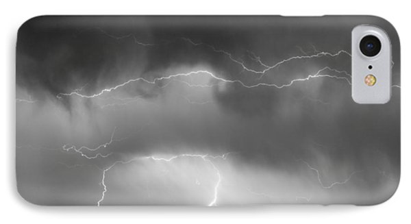May Showers - Lightning Thunderstorm  Bw 5-10-2011 Phone Case by James BO  Insogna