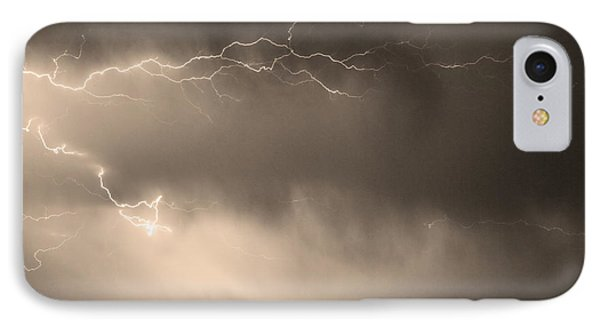 May Showers 2 In Sepia - Lightning Thunderstorm 5-10-2011   Phone Case by James BO  Insogna