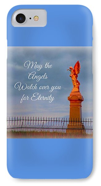 May The Angels Watch Over You IPhone Case by Julie Dant