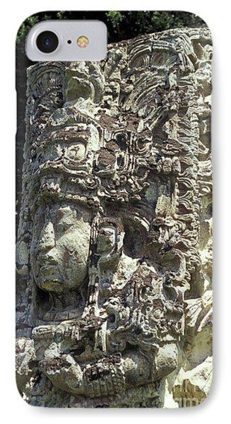 Maya Stela Copan Honduras Phone Case by John  Mitchell