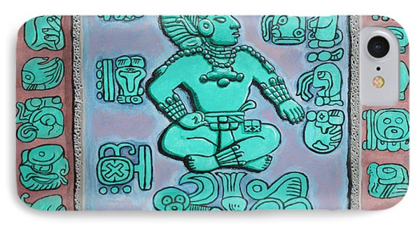 Mayan Prince IPhone Case by Antonio Romero