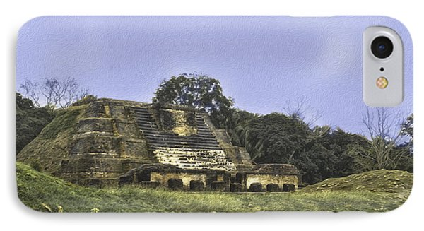 IPhone Case featuring the photograph Mayan Ruins In Belize by Linda Constant