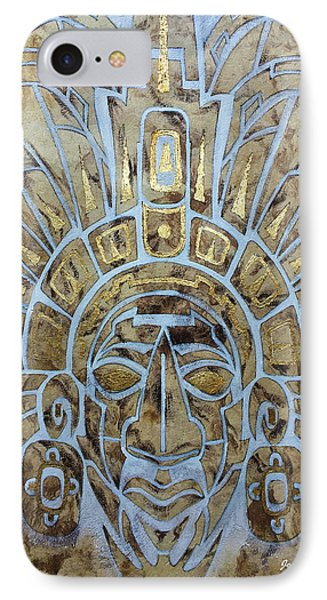 IPhone Case featuring the painting Mayan Warrior by J- J- Espinoza