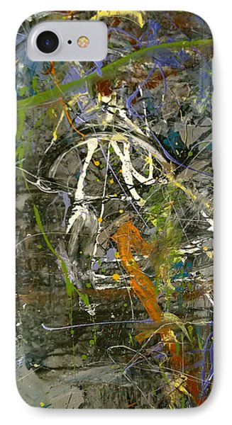 IPhone Case featuring the painting 'maybe Guitar' Or Abstract 42515 by Robert Anderson