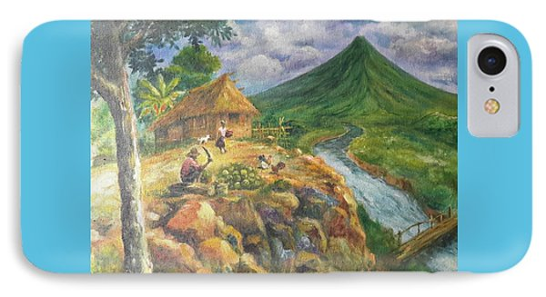 Mayon Scene #1 Phone Case by Manuel Cadag