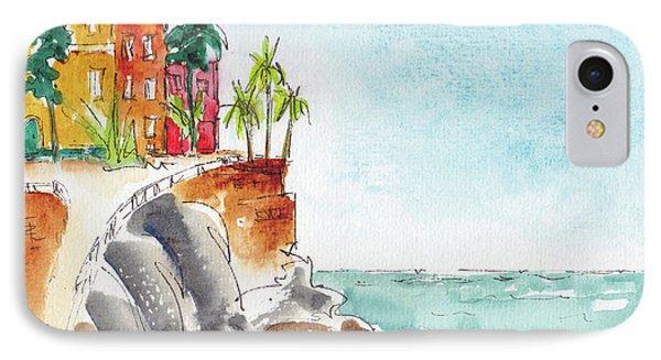 IPhone Case featuring the painting Mazatlan Cliff by Pat Katz