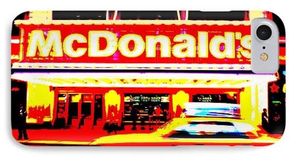 Mc Donalds On Broadway  Phone Case by Funkpix Photo Hunter