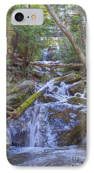 Mcconnells Mill Rock Falls Winter  IPhone Case