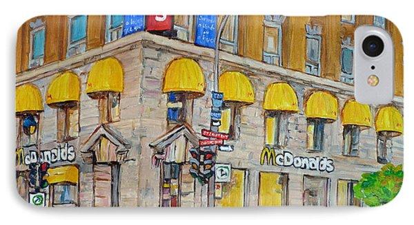 Mcdonald Restaurant Old Montreal Phone Case by Carole Spandau
