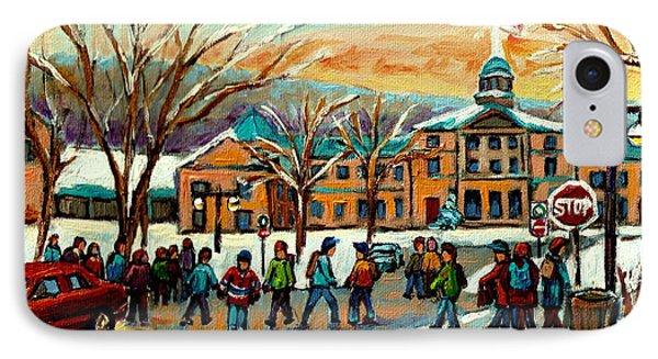 Mcgill Gates Sherbrooke Street Montreal Phone Case by Carole Spandau