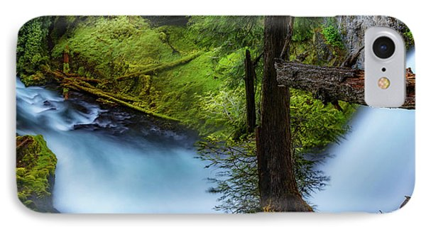 IPhone Case featuring the photograph Mckenzie River From Sahalie Falls by Cat Connor