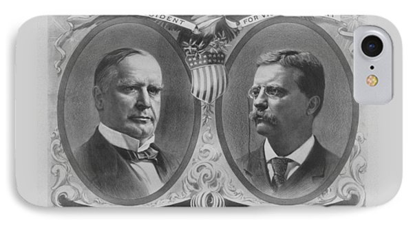 Mckinley And Roosevelt Election Poster Phone Case by War Is Hell Store