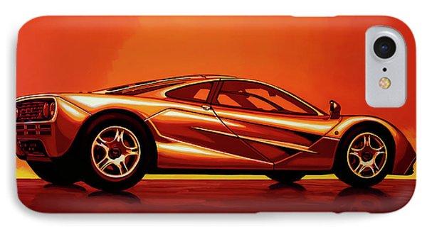 Car iPhone 7 Case - Mclaren F1 1994 Painting by Paul Meijering