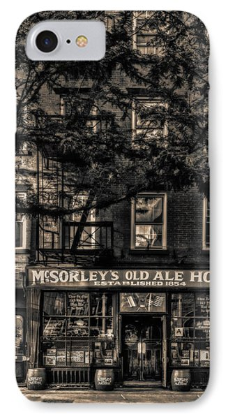 IPhone Case featuring the photograph Mcsorley's Old Ale House Nyc Bw by Susan Candelario