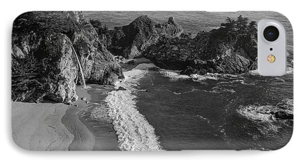 Mcway Cove Waterfall Black And White IPhone Case